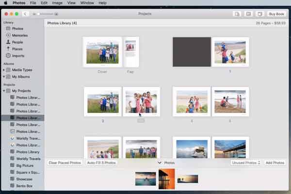 Reorder the pages in your photo book
