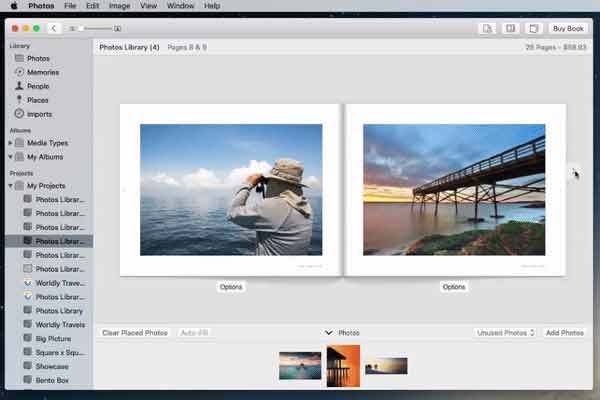 Navigate back to book view in your Photo Book