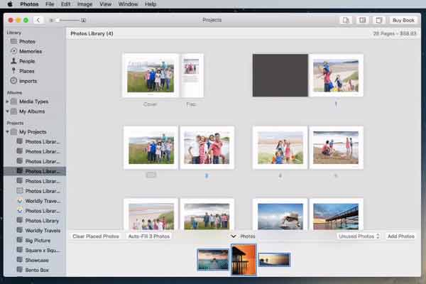 Navigate in your Photo Book
