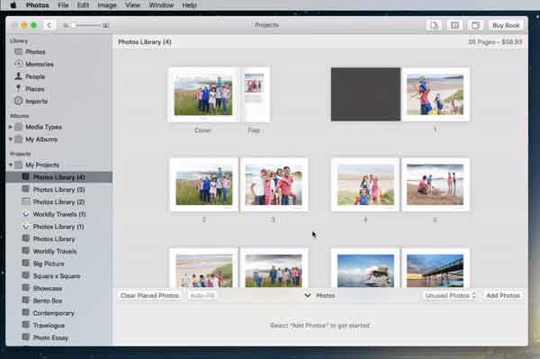 Export your photo book to PDF