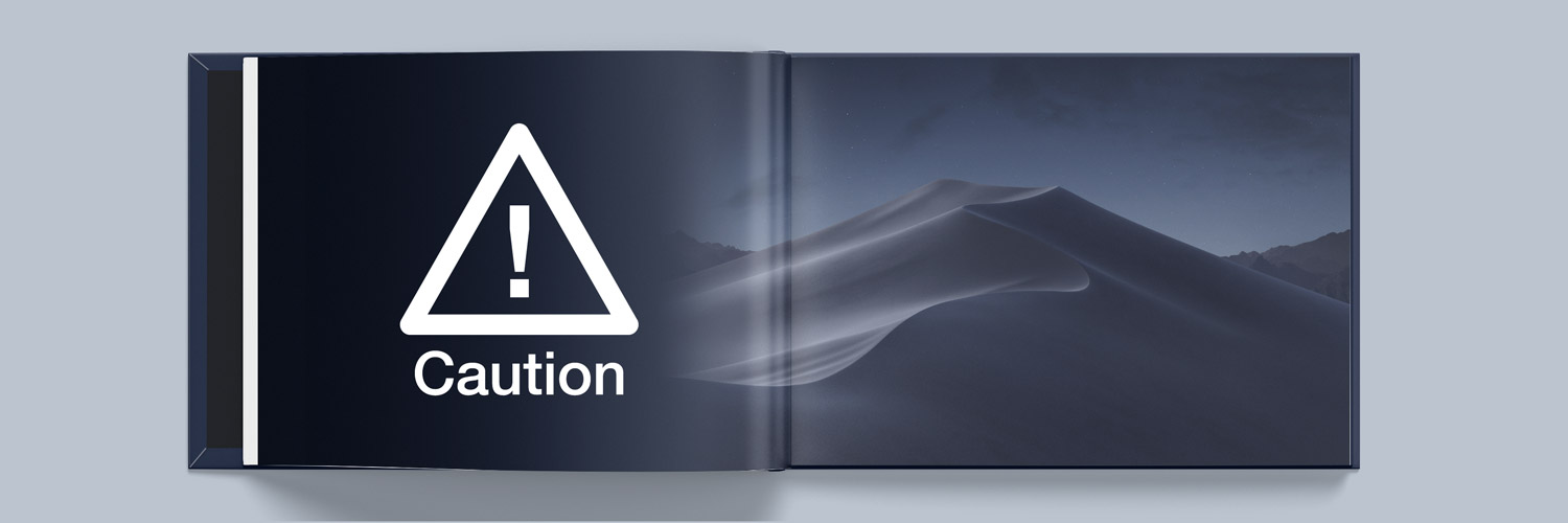 macOS Mojave and Apple Photo Books Caution