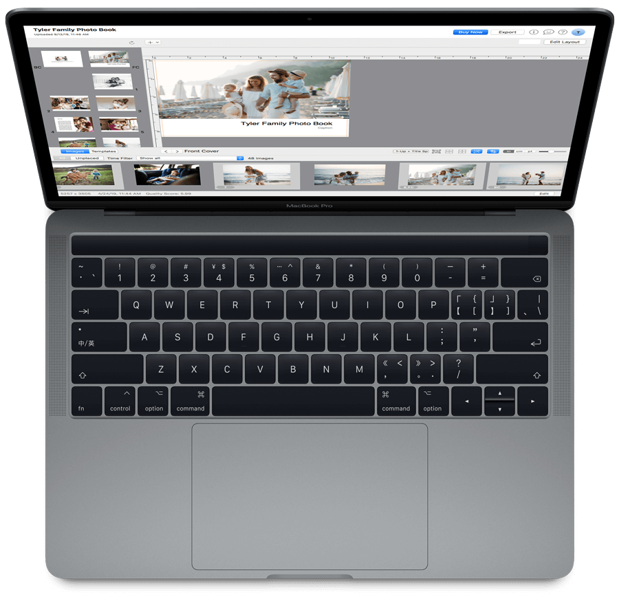 PrestoPhoto macOS App running on a MacBook Pro Apple Laptop