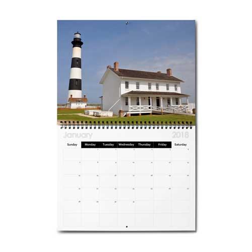 "13""x10.5"" Wire-O Calendar, Semi-Gloss 300 Photo Paper"