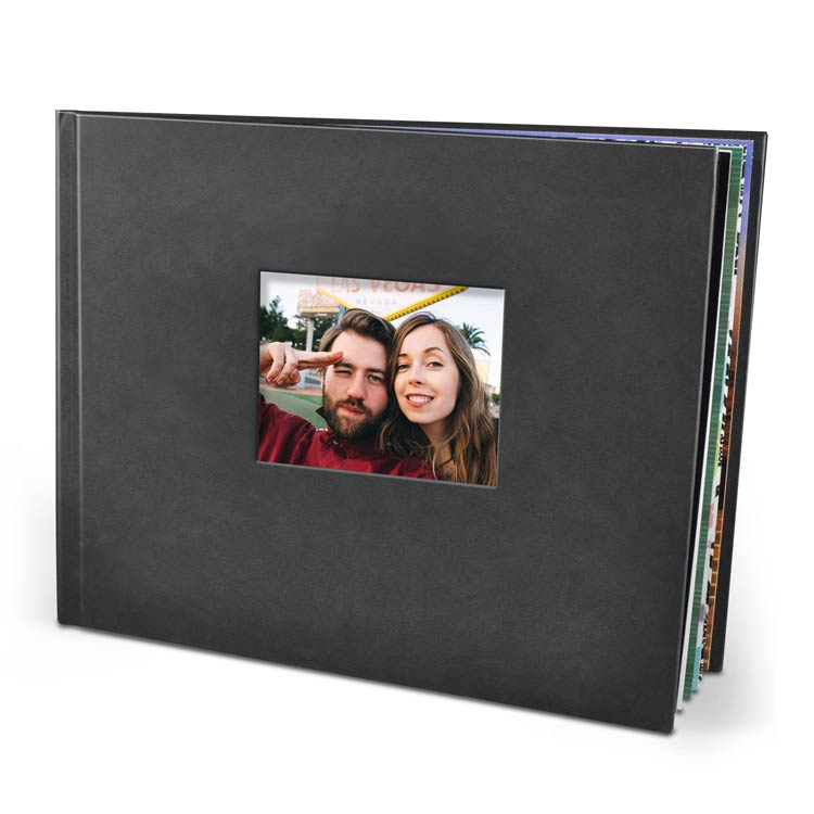11x8.5 Die Cut Hardcover with Silk 120 Photo Paper