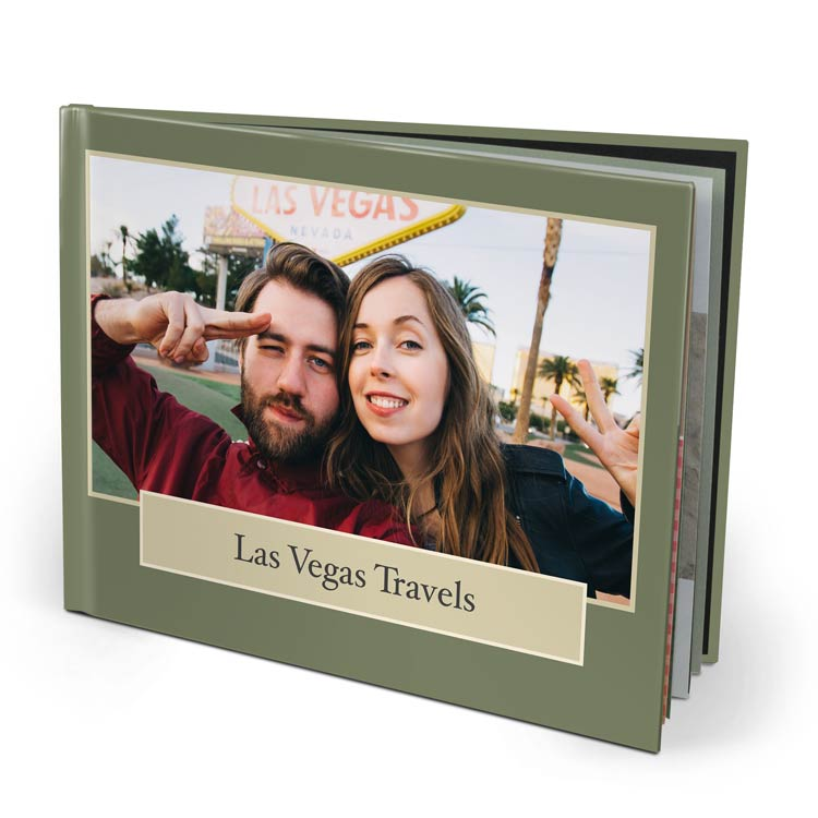 11x8.5 Layflat Imagewrap Hardcover with Velvet 250 Hinged Photo Paper