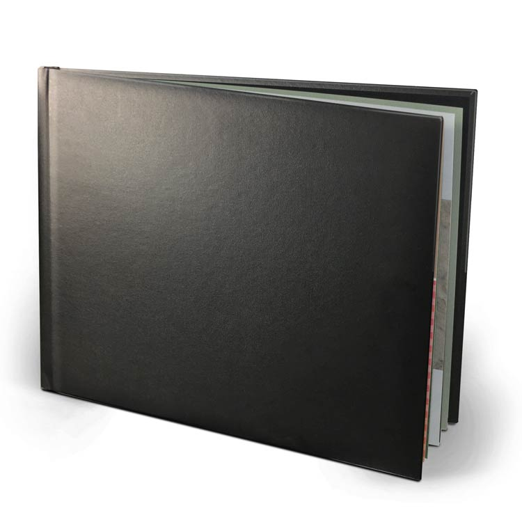11x8.5 Layflat Leather Hardcover with Velvet 250 Hinged Photo Paper