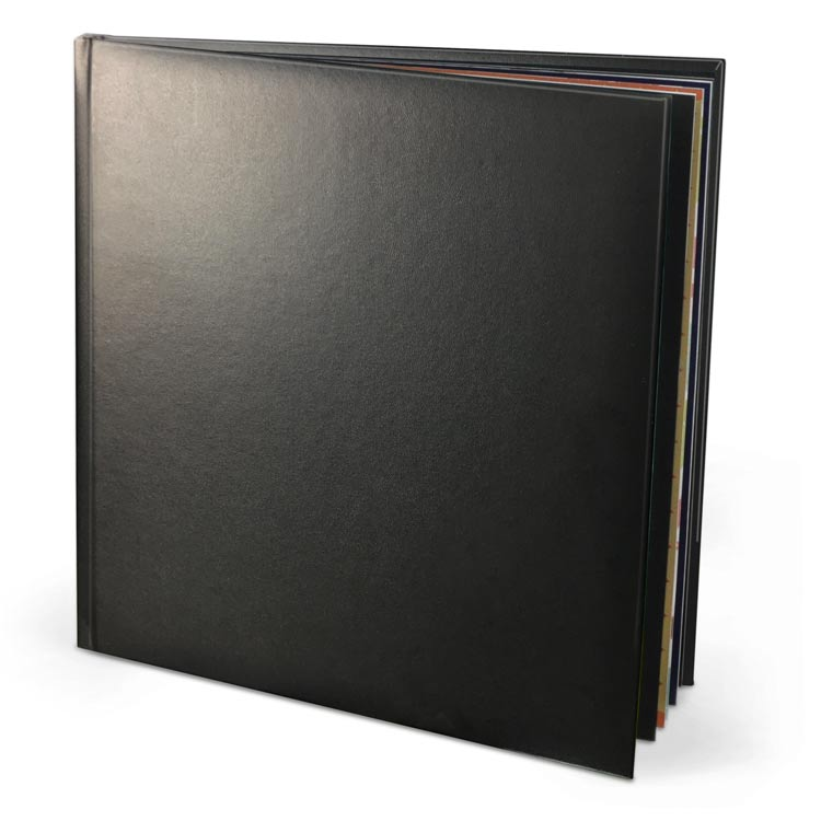 12x12 Layflat Leather Hardcover with Velvet 250 Hinged Photo Paper