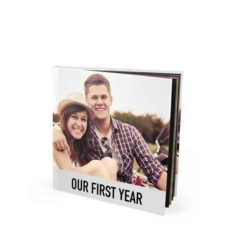 8x8 Layflat Imagewrap Hardcover Photo Book with Velvet 250 Hinged Photo Paper
