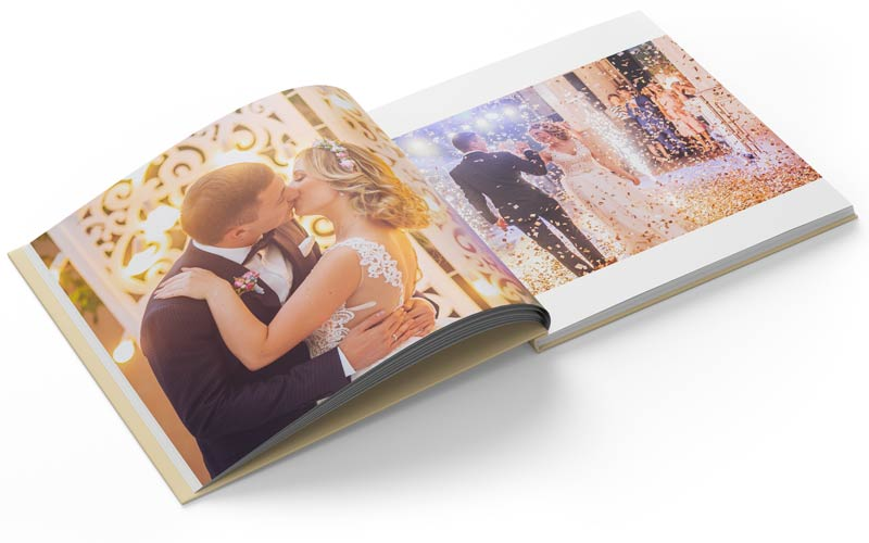 Square Photo Book of a Wedding