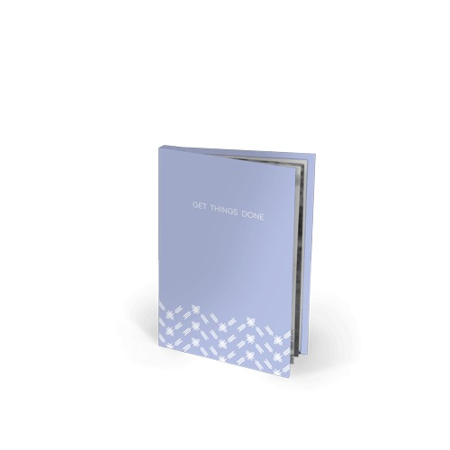 5.5x8.5 Imagewrap Softcover Text Book with Black and White Printing on Bright White