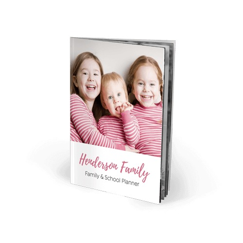 8.3x11.7 Imagewrap Softcover Text Book with Black and White Printing on Bright White